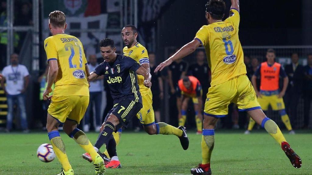 Hasil Liga Italia: Ronaldo Sumbang Gol, Juventus Atasi Frosinone 2-0