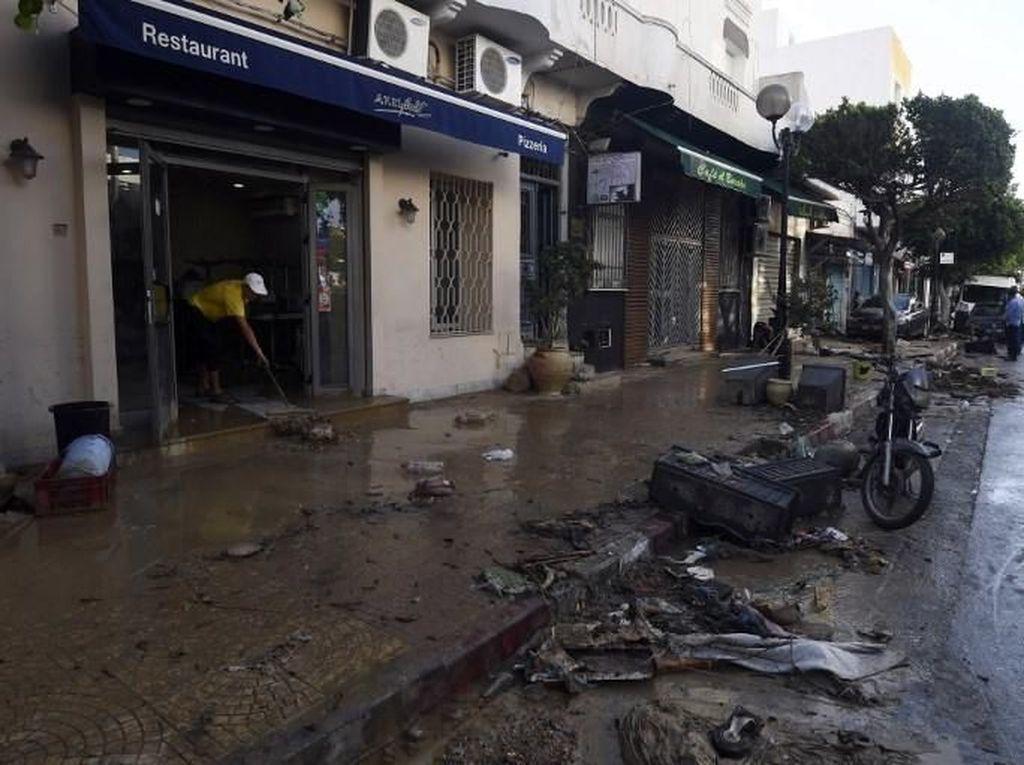 Banjir di Tunisia, 3 Orang Tewas