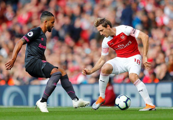Menjamu Everton di Emirates Stadium, Minggu (23/9/2018) malam WIB, Arsenal mendapatkan perlawanan ketat di babak pertama. Reuters/Eddie Keogh.