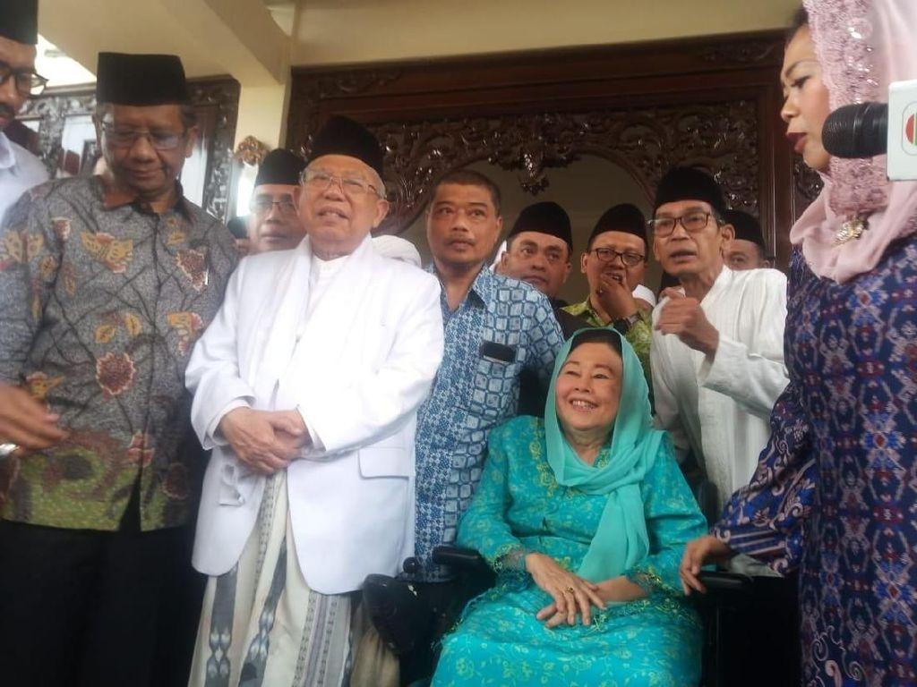Sowan ke Istri Gus Dur, Ini yang Didapat Maruf Amin