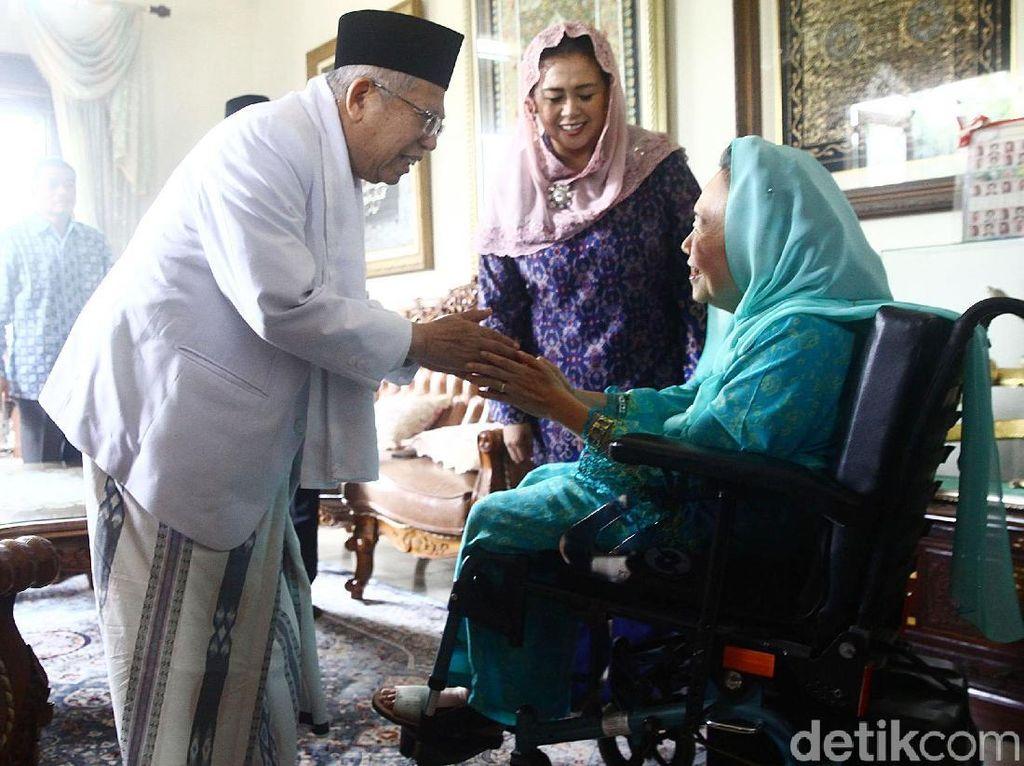 Dikunjungi Maruf Amin, Keluarga Gus Dur Gembira