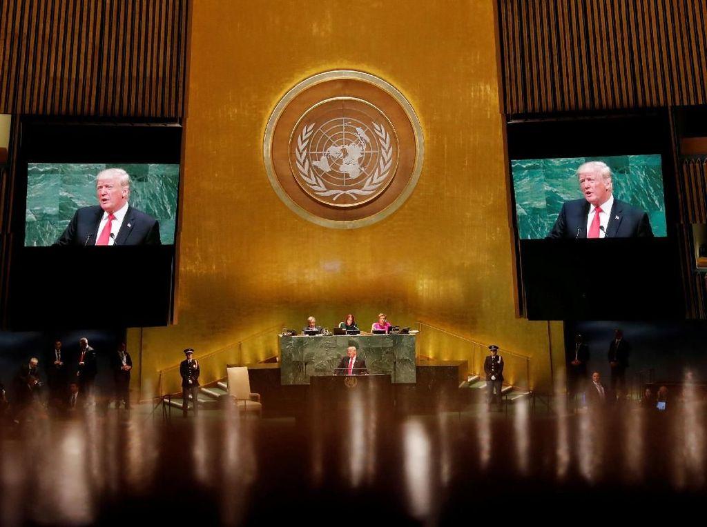 Trump Ditertawakan Saat Pidato di PBB, Iran: Itu Aib Politik