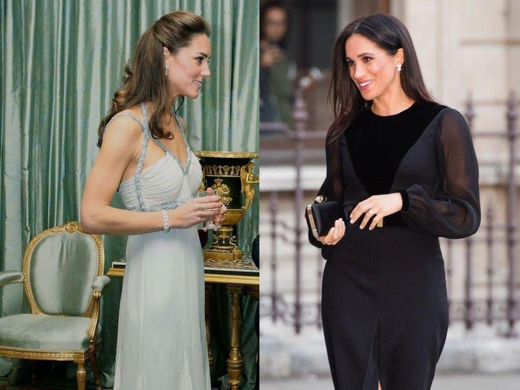 Adu Gaya Kate Middleton Vs Meghan Markle Tugas Solo Perdana, Stylish Mana?
