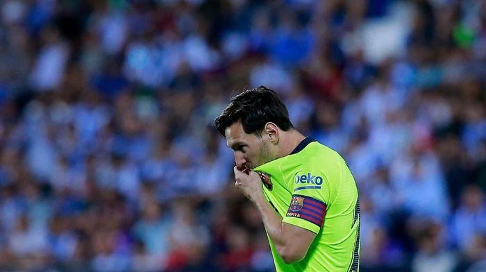 Lionel Messi gagal menyelamatkan Barcelona dari kekalahan di markas Leganes. (Foto: Gonzalo Arroyo Moreno/Getty Images)