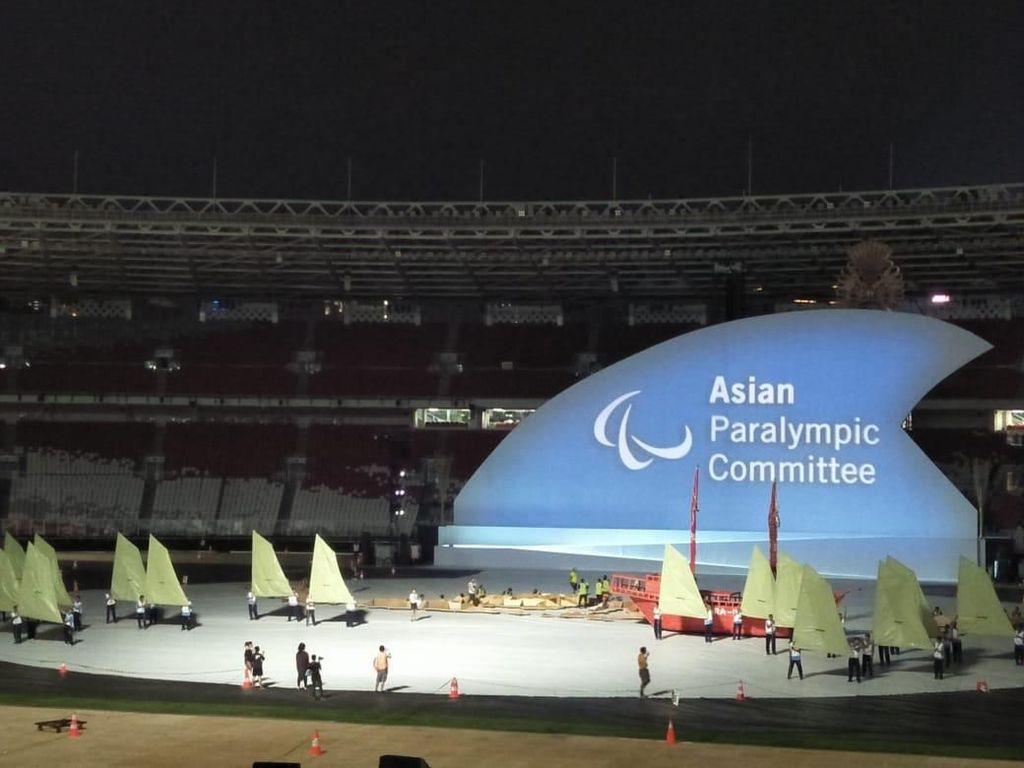 Mengintip Gladi Kotor Upacara Pembukaan Asian Para Games 2018