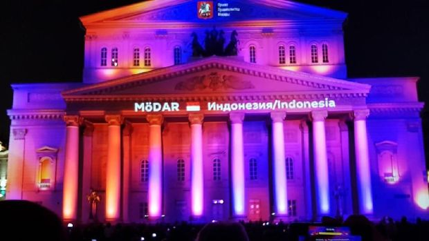 Video mapping karya MӧDAR, peserta Indonesia pada Moscow International Festival