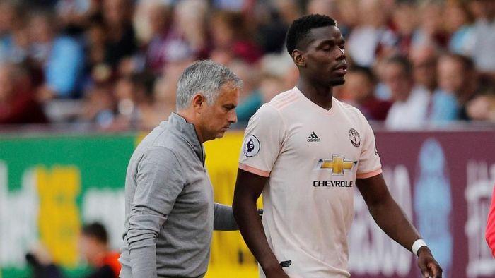 Jose Mourinho sempat marah ke Paul Pogba karena unggahan di sosial media (Reuters)