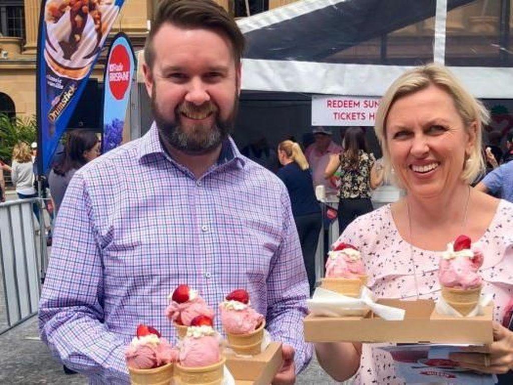 Kampanye Penjualan Es Krim Stroberi di Brisbane Hasilkan Rp 500 Juta
