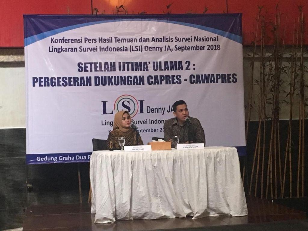 LSI Denny JA: Prabowo Sedot Dukungan PA 212 Pasca-Ijtimak Ulama II