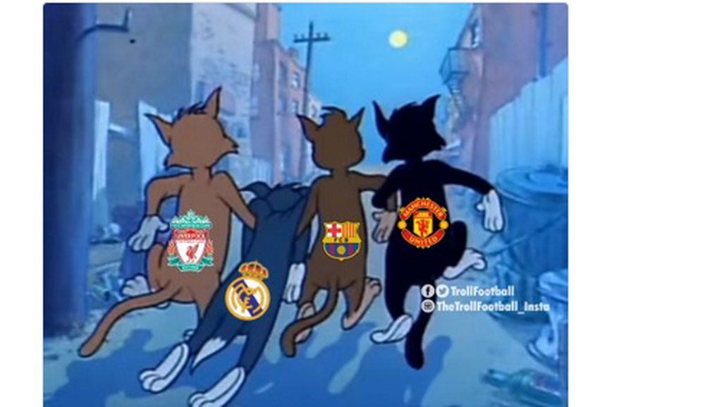 Meme-meme Real Madrid dan Barcelona Kompak Kalah