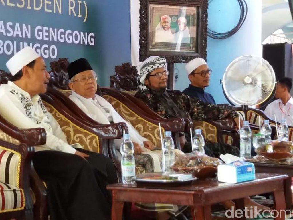Setelah Jember, Maruf Amin Silaturahmi ke Ponpes di Probolinggo