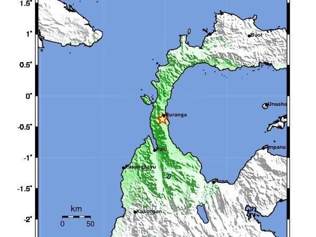 Ini Perkiraan Zona Warning Potensi Tsunami di Donggala Sulteng