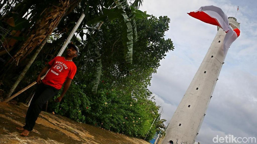 Potret Mercusuar Oinake di Perbatasan RI-Papua Nugini