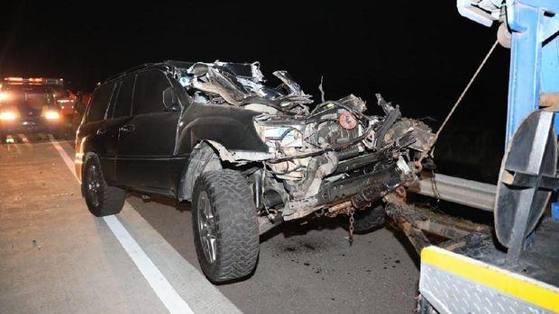 Ini Penampakan Mobil Kapolres Tulungagung Usai Kecelakaan di Tol