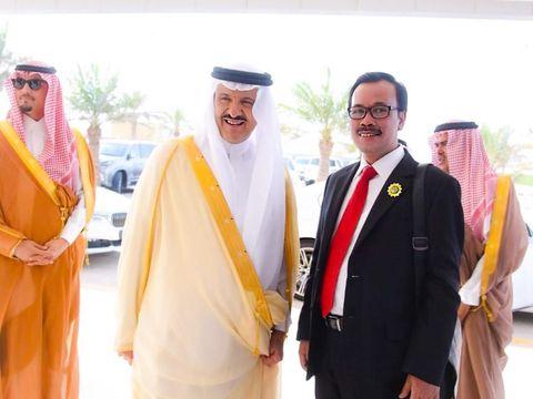 Dubes RI untuk Arab Saudi Agus Maftuh Abegebriel (kanan).