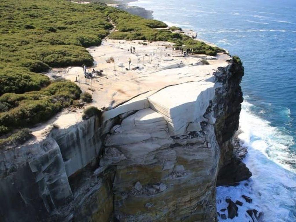 Foto: Tebing Batu Ini Mirip Kue Pernikahan