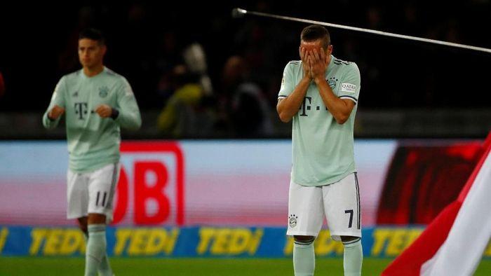 Bermain di Olympiastadion, Sabtu (29/9/2018) dinihari WIB, Bayern dibuat frustrasi. Foto: Hannibal Hanschke/Reuters