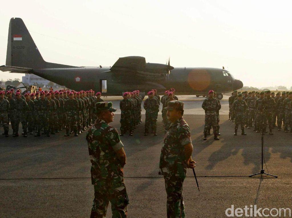 Angkatan Udara Kirim Pasukan & Logistik Pemerintah