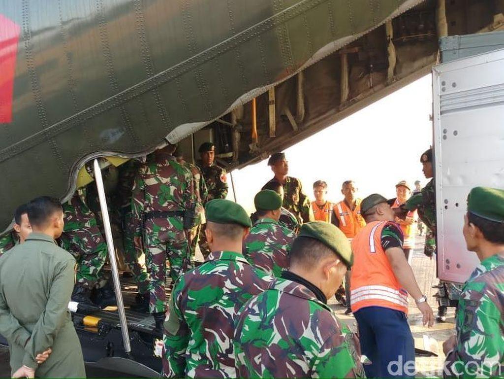 Lanud Abdul Rachman Saleh Kirim Pasukan Bantu Korban Gempa-Tsunami