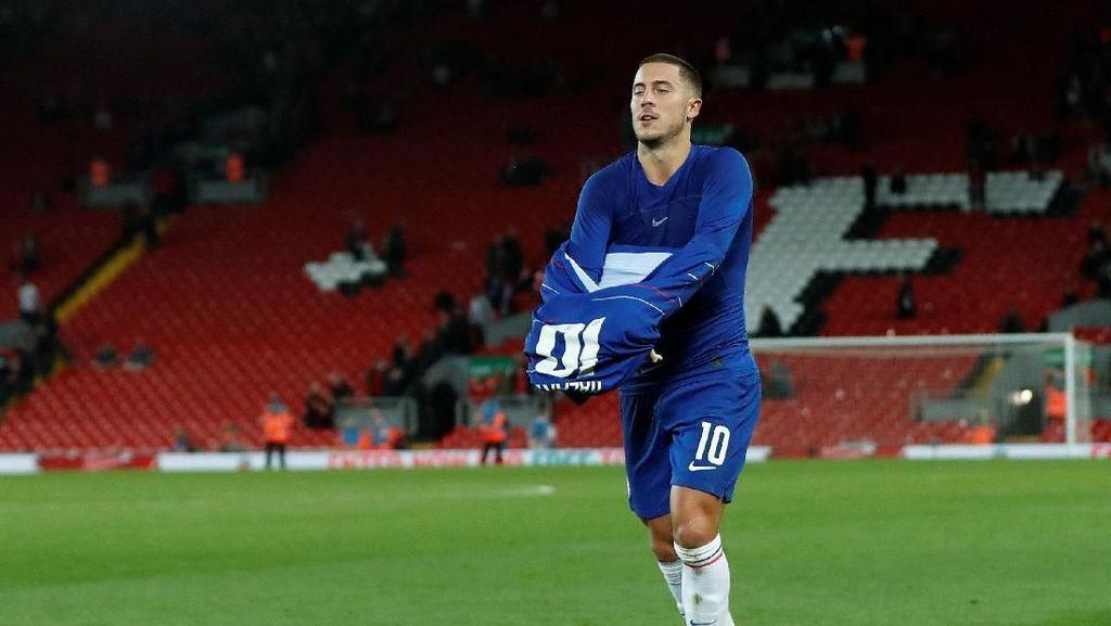 Hazard Cuma Akan Pergi dari Chelsea dengan Baik-baik
