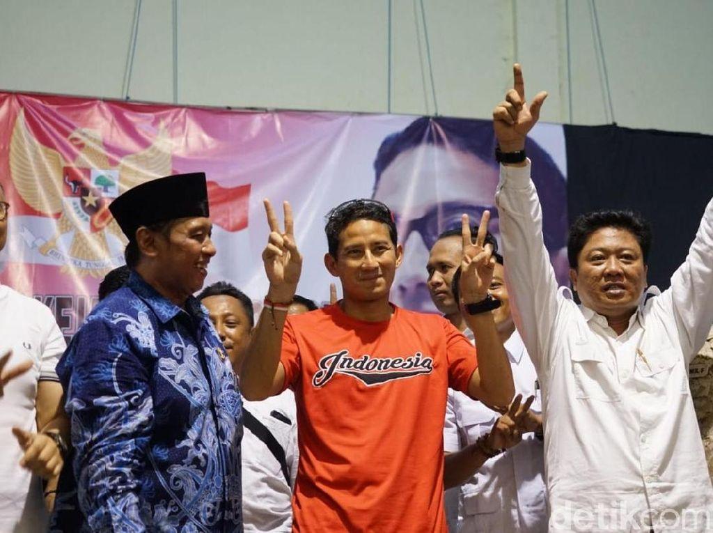 Dinilai Timses Jokowi Skor Minus 3, Sandiaga: Kita Unggul 2-0