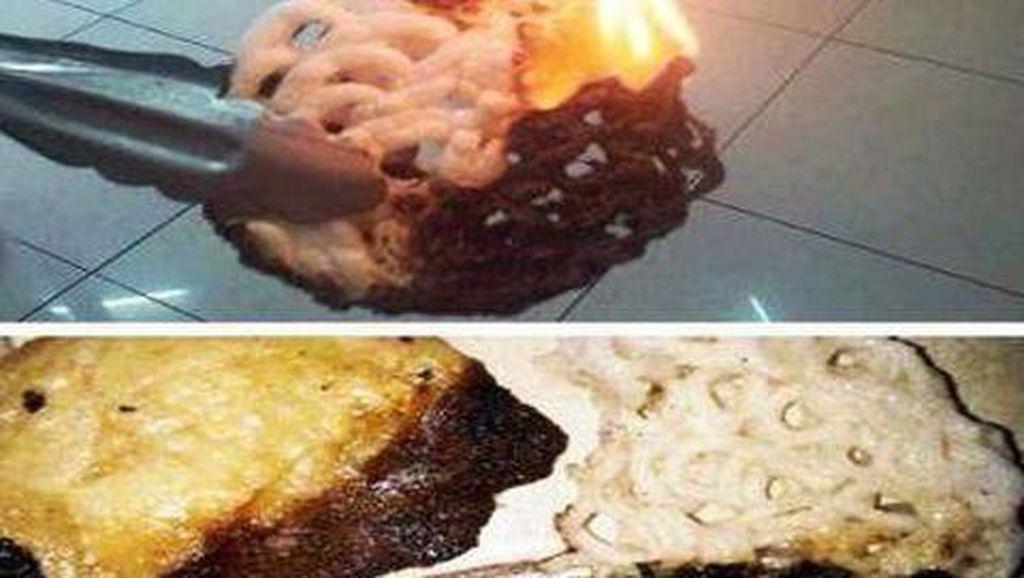 Nggak Cuma Kopi Instan, Makanan Berikut Ini Pasti Menyala kalau Dibakar