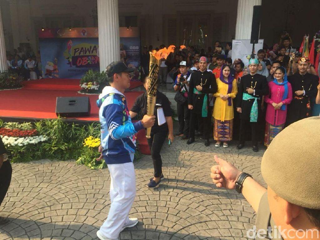 Api Obor Asian Para Games 2018 Tiba di Balai Kota Jakarta