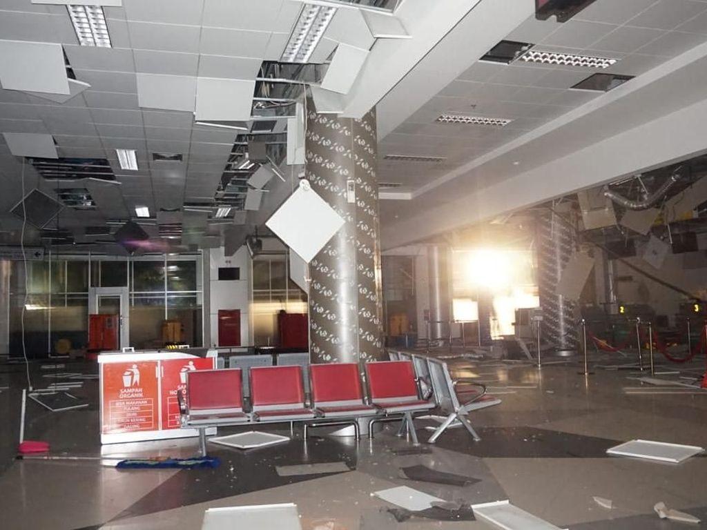 Begini Potret Rusaknya Bandara Palu Pasca Diguncang Gempa