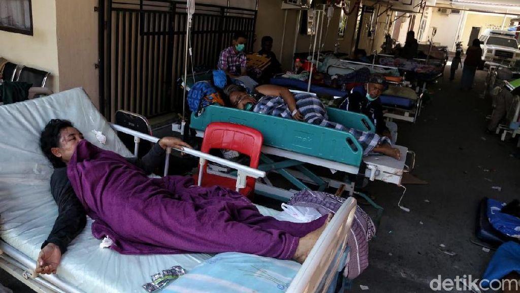 Potret Korban Luka-luka di RS Bhayangkara Palu