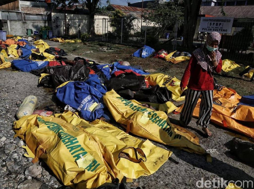 Puluhan Jenazah Sudah Diidentifikasi di RS Bhayangkara Palu