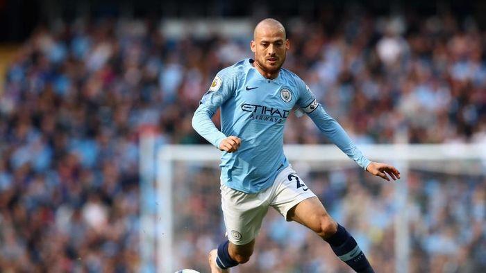 David Silva akan meninggalkan Manchester City di akhir musim 2019/2020. (Foto: Clive Brunskill/Getty Images)