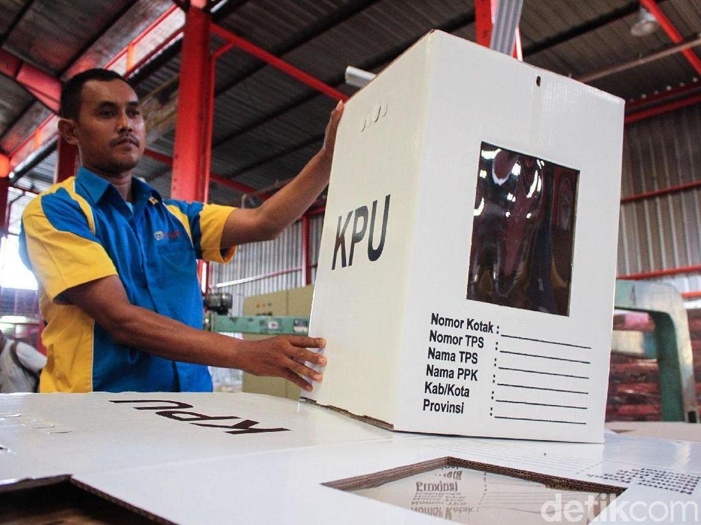 Kotak Suara Kardus Pilpres 2019 Ramai Dibahas, KPU: Itu Karton Kedap Air