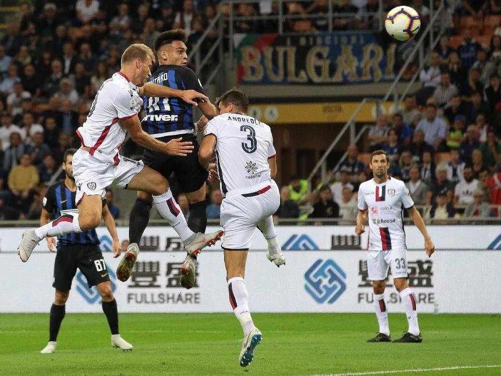 Hasil Liga Italia: Inter Atasi Cagliari 2-0