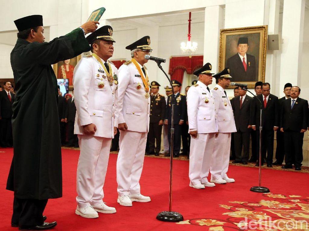 Gubernur Sumsel dan Gubernur Kaltim Resmi Dilantik