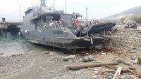 Kondisi Kapal yang Terdampak Gempa dan Tsunami di Sulteng