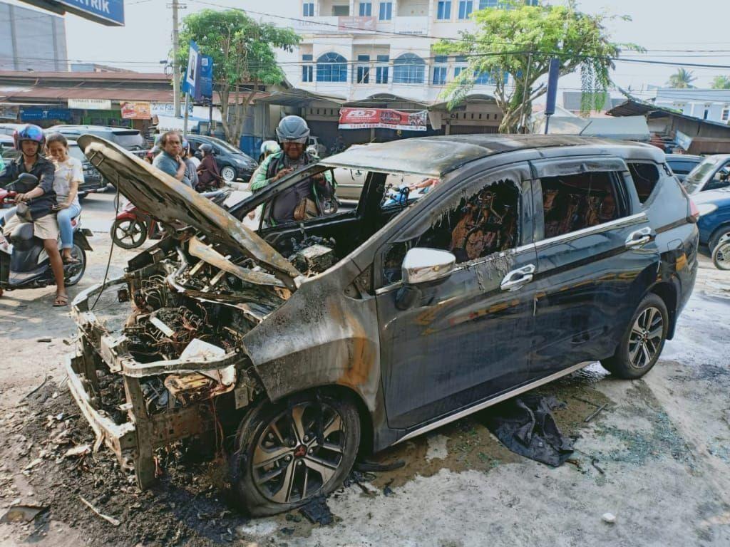 Mitsubishi: Xpander yang Terbakar di Riau Sudah Dimodifikasi