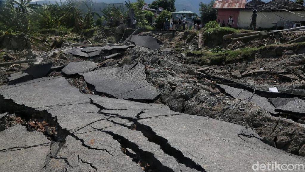 Mengerikan, Begini Penampakan Tanah Ambles di Balaroa Palu