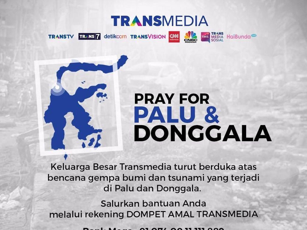 Ayo Bantu Sulteng, Donasi Dompet Amal Transmedia Capai Rp 9,1 M