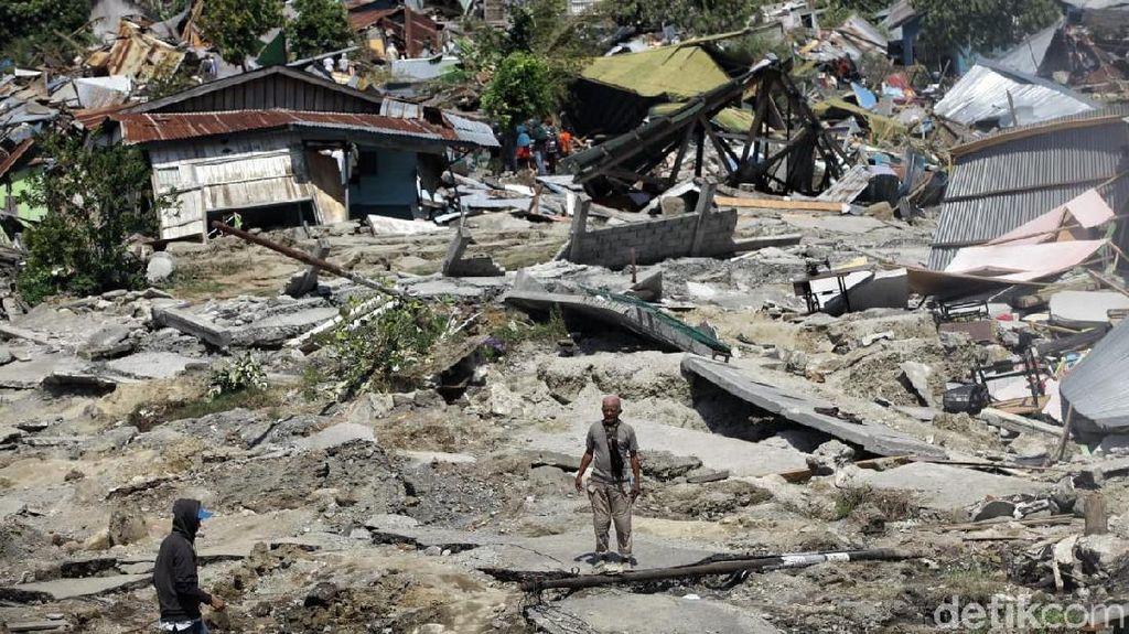 Potret Balaroa Palu: Tanah Ambles, Rumah Hancur Akibat Gempa