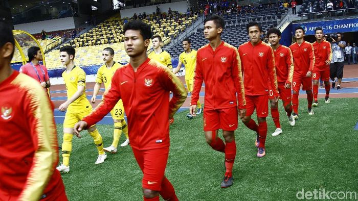 Timnas Indonesia U-16 (Foto: Dikhy Sasra/detikSport)