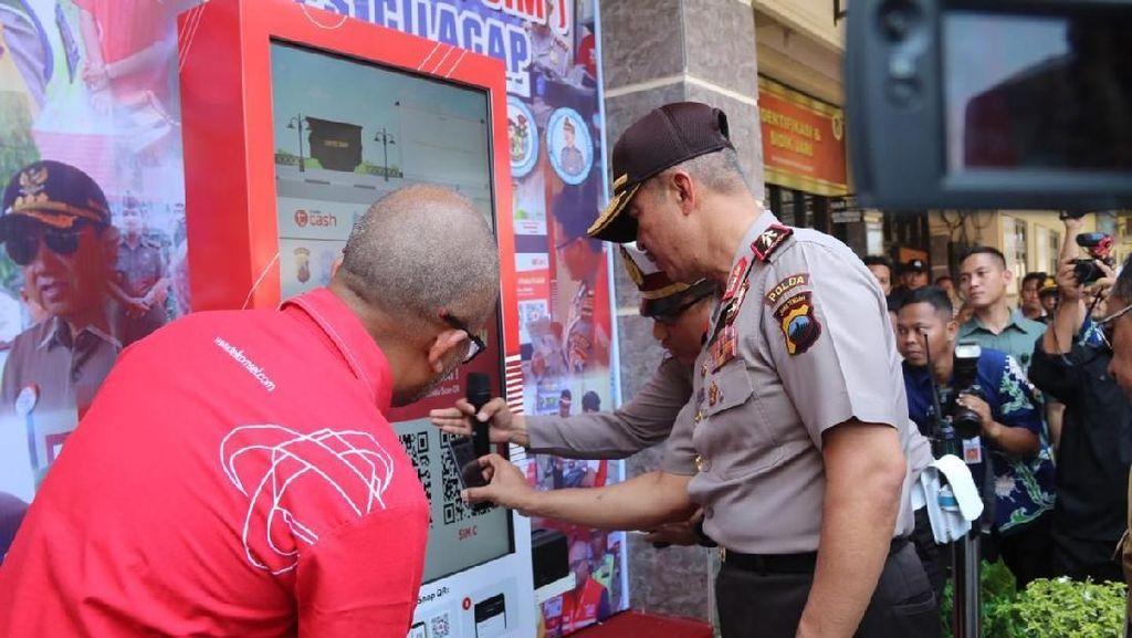 Satlantas Polres Cilacap Luncurkan Mesin Portable T-SIM