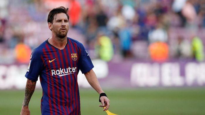 Lionel Messi dibela Barcelona usai dikritik Diego Maradona. (Foto: Albert Gea/REUTERS)