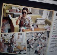 Hari Batik Nasional, Mayangsari Sandingkan Batik Patchwork dan Boots Dior