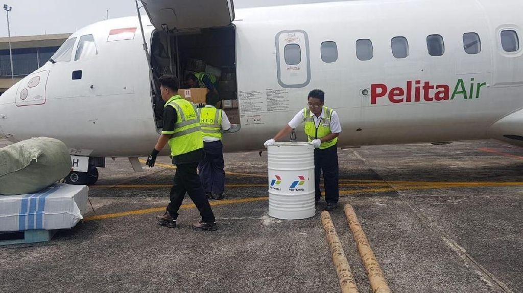 Bawa SPBU Portabel ke Palu, Pesawat Penumpang Disulap Jadi Kargo
