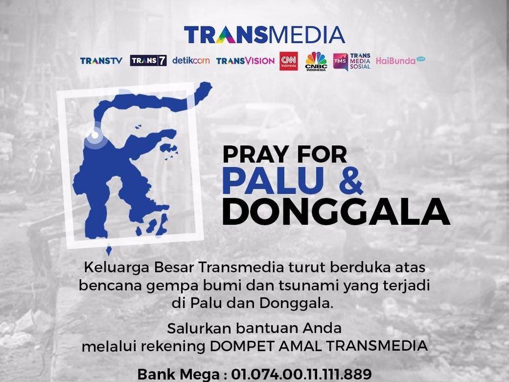 Mari Bantu Sulteng, Donasi Dompet Amal Transmedia Capai Rp 8,8 M
