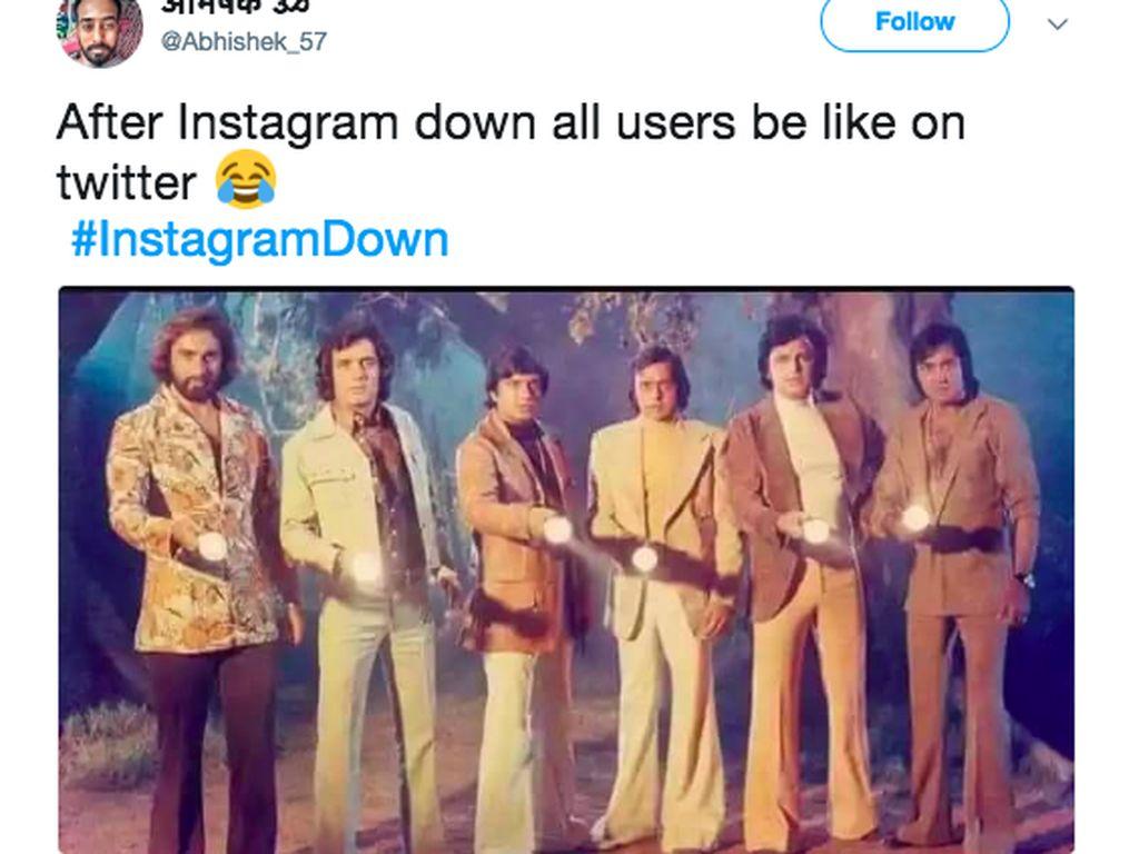 Meme Kocak Instagram Down Bertebaran