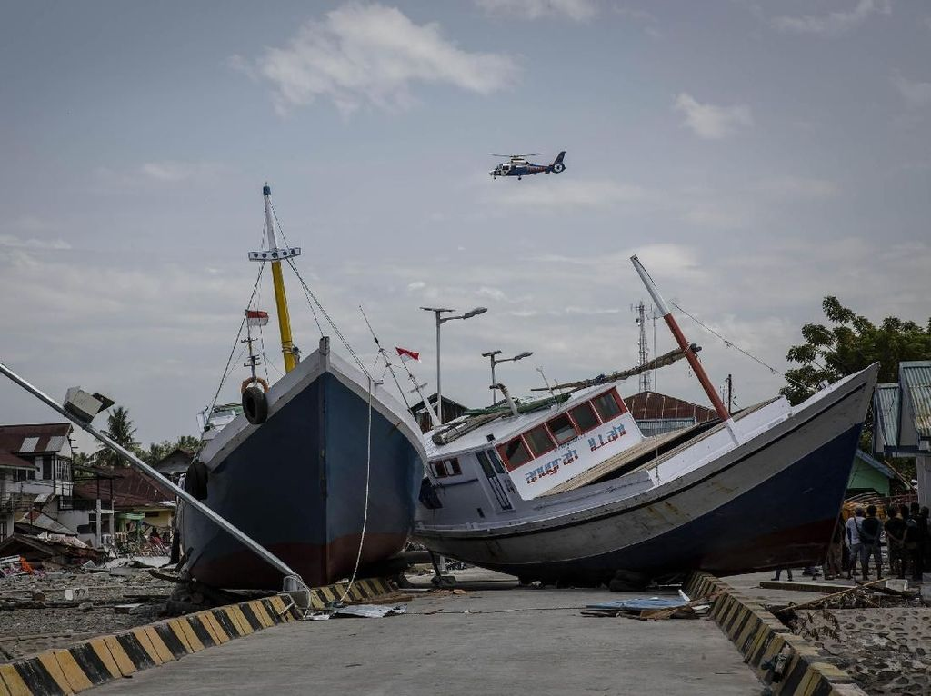 Kapal-kapal yang Terseret Tsunami Donggala