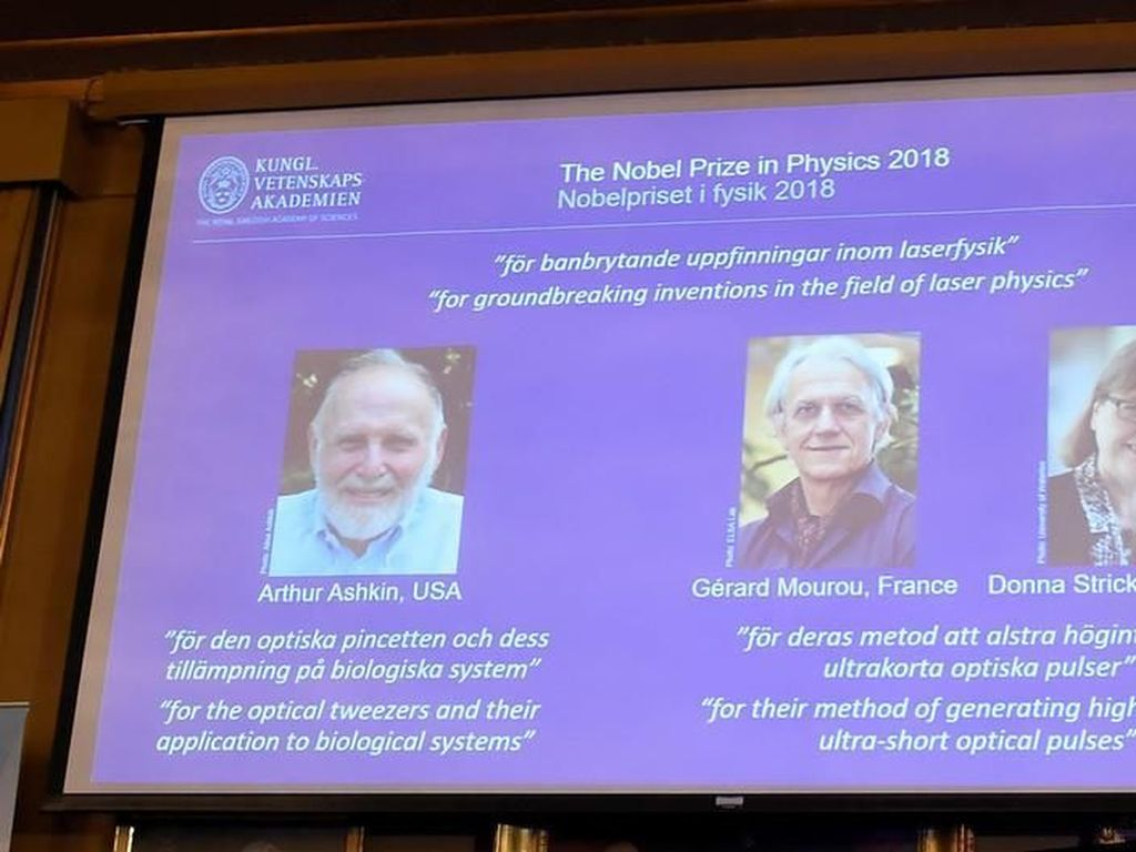 Nobel Fisika 2018 untuk Teknik Laser Presisi Tinggi