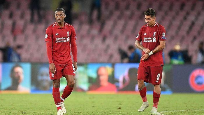 Liverpool menelan kekalahan 0-1 dari Napoli di matchday kedua C Liga Champions. (Foto: Francesco Pecoraro/Getty Images)