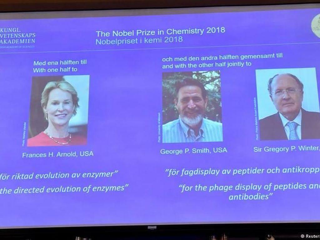 Riset Meniru Evolusi Protein Dianugerahi Hadiah Nobel Kimia 2018